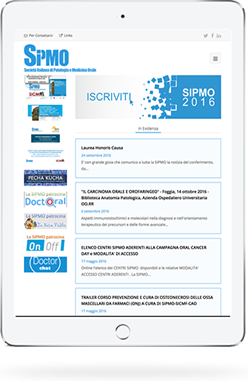 IPad con la schermata del sito Sipmo